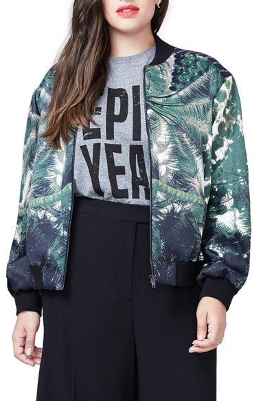 5ea88f8984a Rachel Roy Bomber Jacket (Plus Size) available at  Nordstrom
