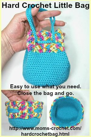 This Little Bag Is Made Using The Hard Crochet Technique Easy To