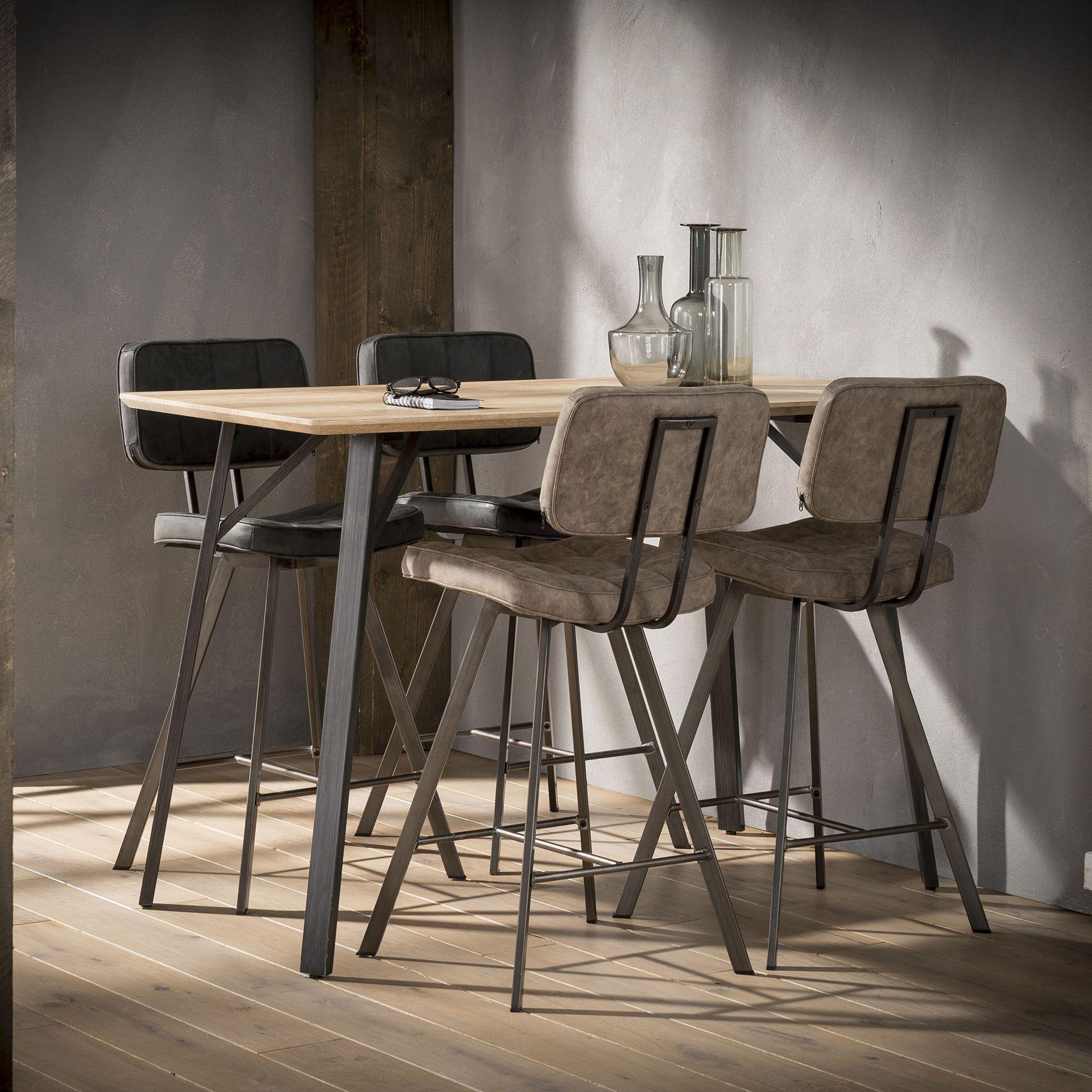 Table Haute Rectangulaire Helsinki Table Bar Cuisine Tabouret De Bar Chaise Bar