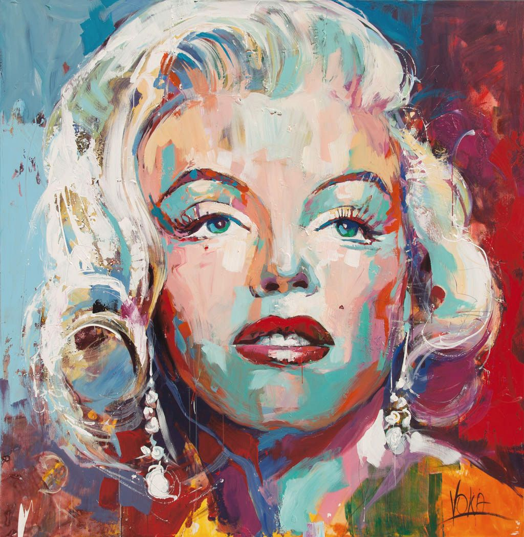 Cuadros De Andy Warhol Marilyn Monroe And Andy Warhol Painted By Voka Art