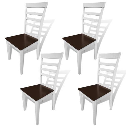 4x Esszimmerstuhl Massiv Holz Stühle Küchenstuhl Lehnstuhl - küchenstuhl weiß holz