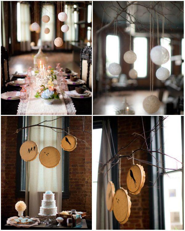 Diy Hochzeit Tischdeko Mit Vogel Vogelnest Im Vintage