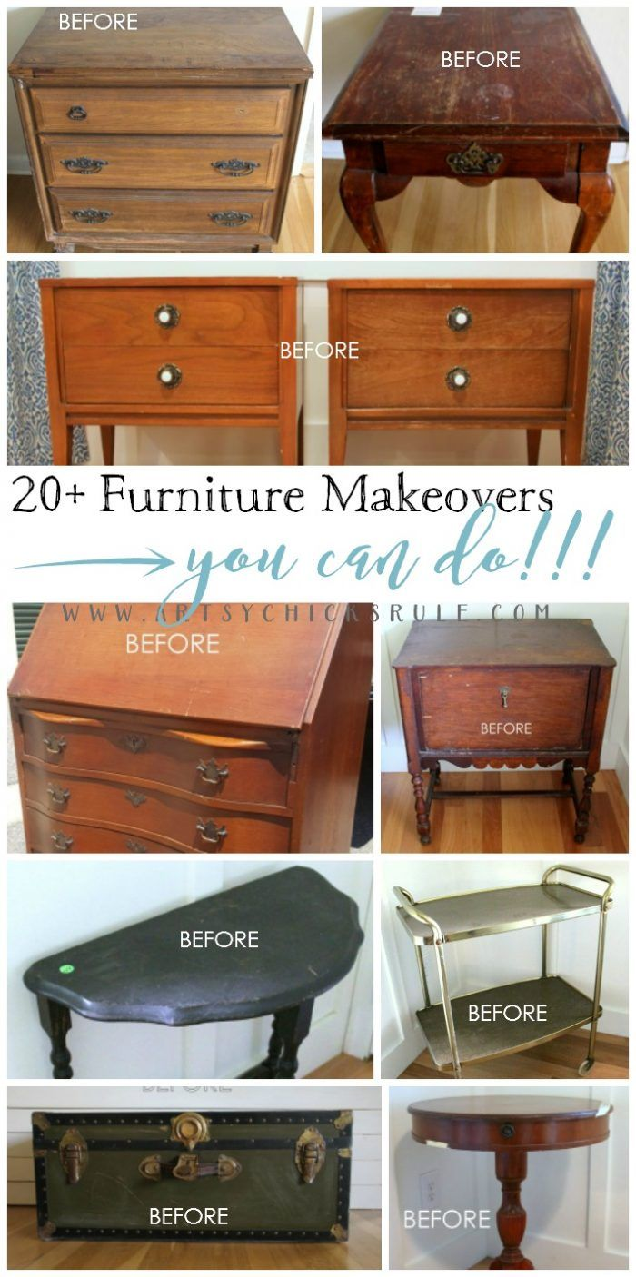 diy furniture refinishing projects. 20+ MORE Furniture Makeovers YOU Can Do!! Artsychicksrule.com #furnituremakeovers # Diy Refinishing Projects T