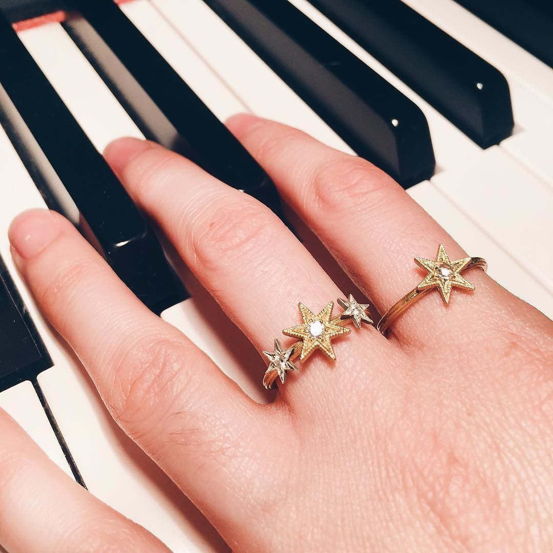 Our new Six Point Star Charm Rings making beautiful music. Compose ...