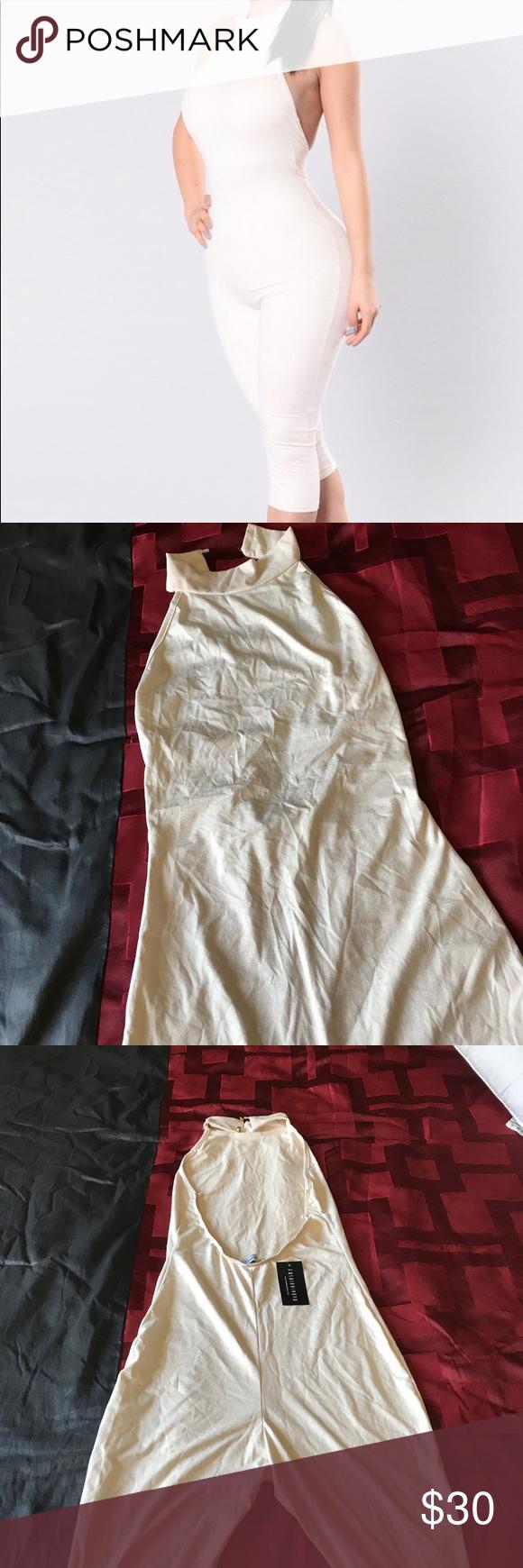 f3e4372c493e FashioNova Shattered glass Jumpsuit Nude