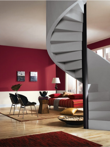 Stolen Kiss (SW 7586) makes a bold statement in this loft living ...