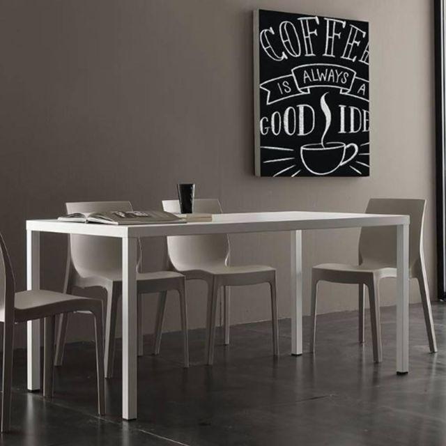 Inside 75 Table repas fixe Carter blanche | Tables à manger ...