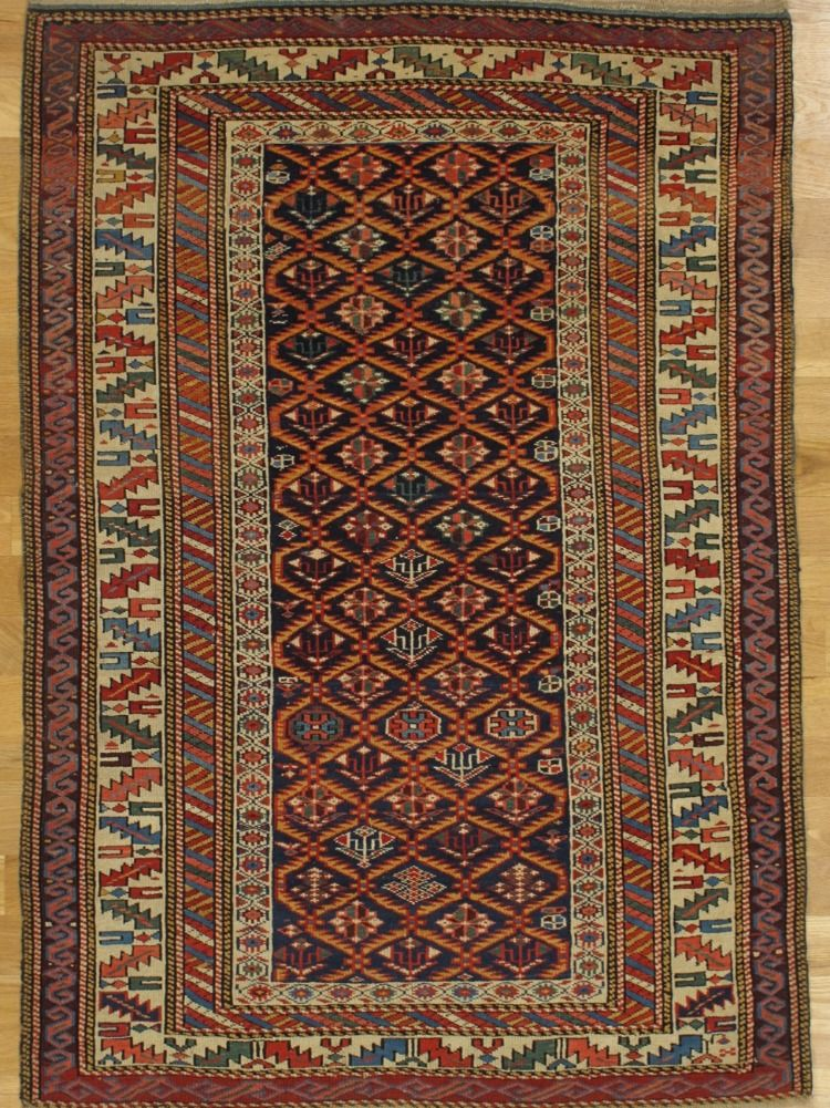 Kuba Rug From Eastern Caucasus West Coast Of The Caspian Sea Age Circa 1885 Size 5 1 X3 6 155x107 Cm Sold In 2020 Rugs Persian Rug Antique Rugs
