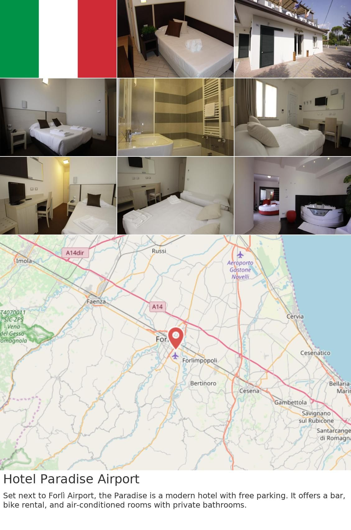 Europe Italy Forli Hotel Paradise Airport Set Next To