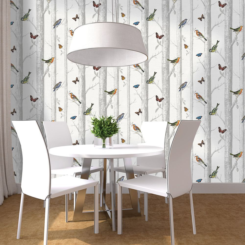 Epping Birds on Branches Wallpaper White Holden 12231 in
