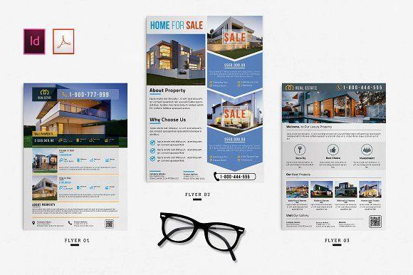 Real Estate Flyer By Ahsanjaya On Creativemarket Awesome Flyer - Adobe illustrator flyer template