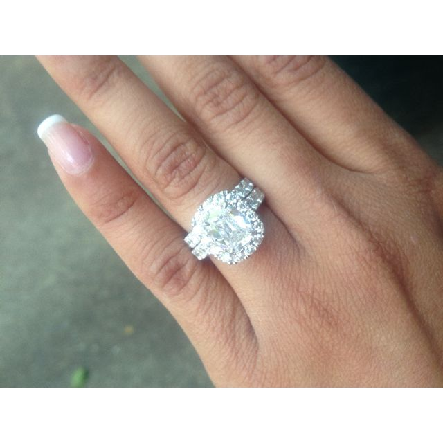 Wedding ring with engagement ring wedding rings pinterest wedding ring with engagement ring oh my gosh thats freaking huge junglespirit Choice Image