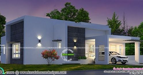 1748 Square Feet 3 Bedroom Box Model Single Floor House For Middle Class Family By