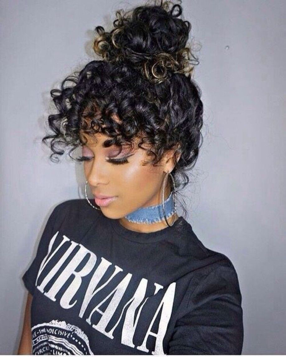 Check Out Our 24 Easy To Do Updos Perfect For Any Occasion Hair Styles Curly Hair Styles Curly Hair With Bangs