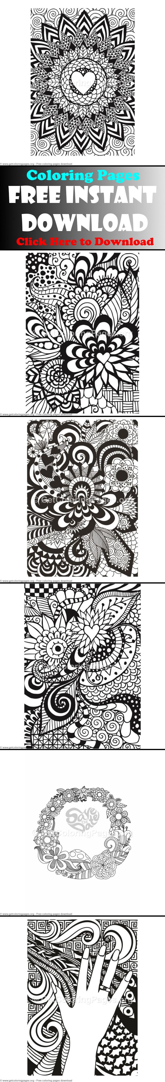 Free doodling coloring pages Adult Coloring Pages Pinterest