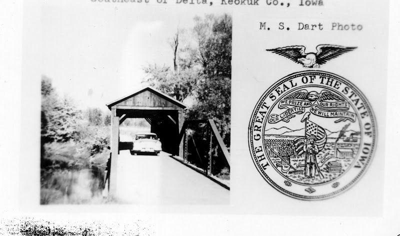 Delta Covered Bridge Covered bridges, Family tree, Postcard