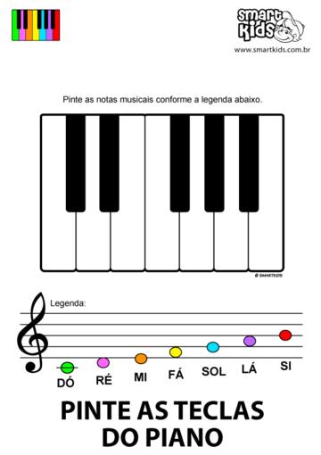 Pinte as Teclas do Piano