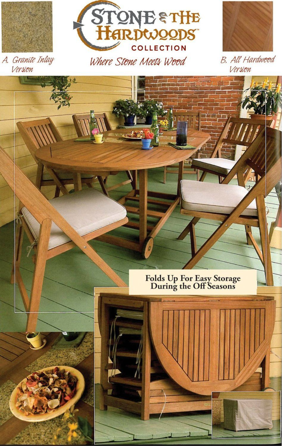 View the outdoor interiors piece folding patio set at amazon