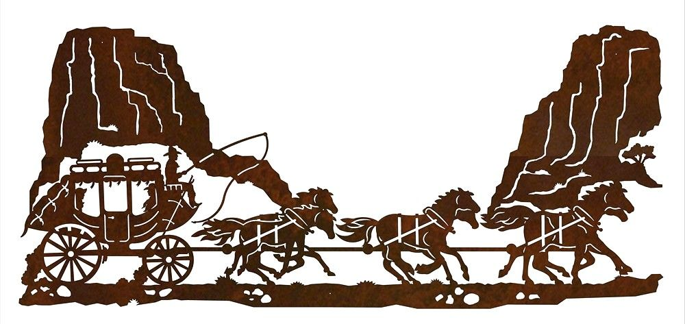 stagecoach western metal wall art sculpture western decor ironwood rh pinterest co uk stagecoach clipart free cartoon stagecoach clipart