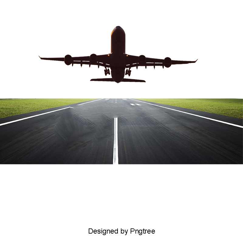 Runway Take Off The Plane Hd Picture, Plane Clipart
