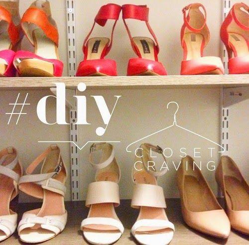 DIY Closet Shoe Storage #organization #closetideas #shoestorage