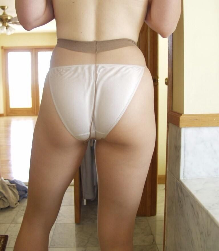 Ass fetish hose pantie