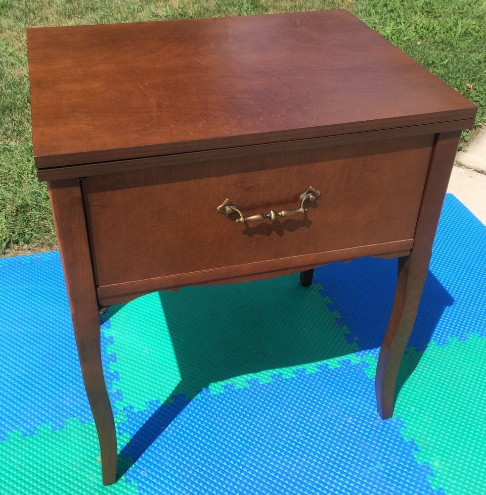 EMPTY PFAFF 130 SEWING MACHINE CABINET TABLE FITS SINGER 15 125 66 ...