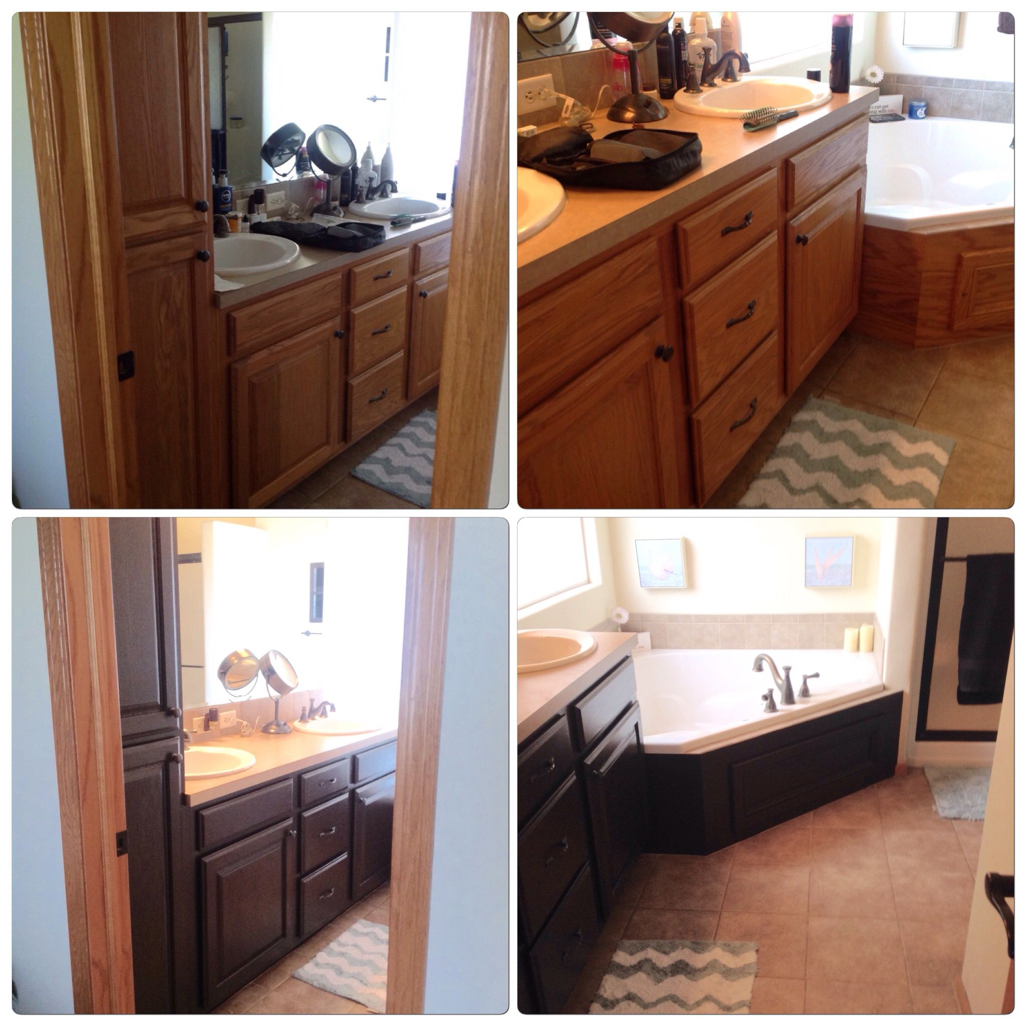 Painted Bathroom Cabinets Paint Is Sherwin Williams Black Bean