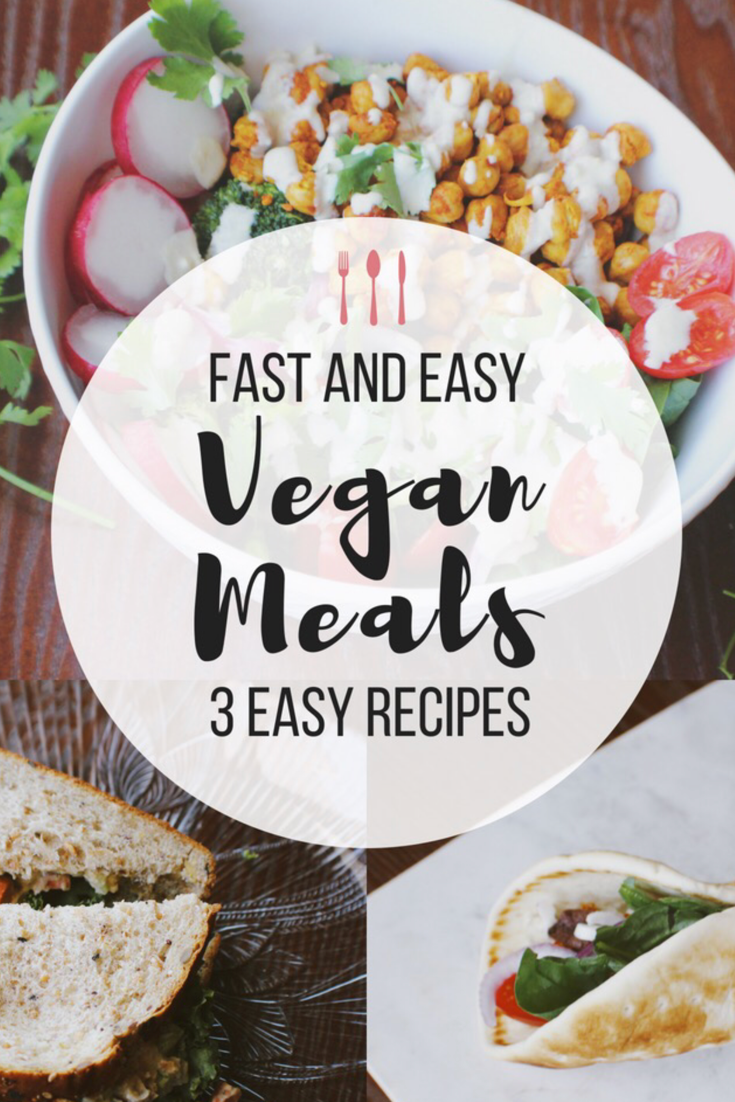 3 Fast And Easy Vegan Meals Shown On A Youtube Video
