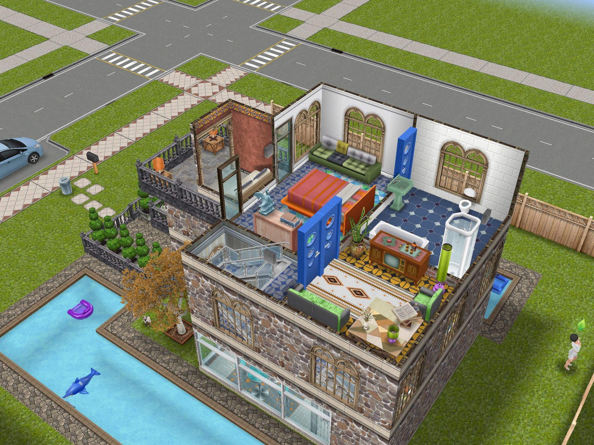 *Retro House* #JennieThompsonTown #SimsFreePlay