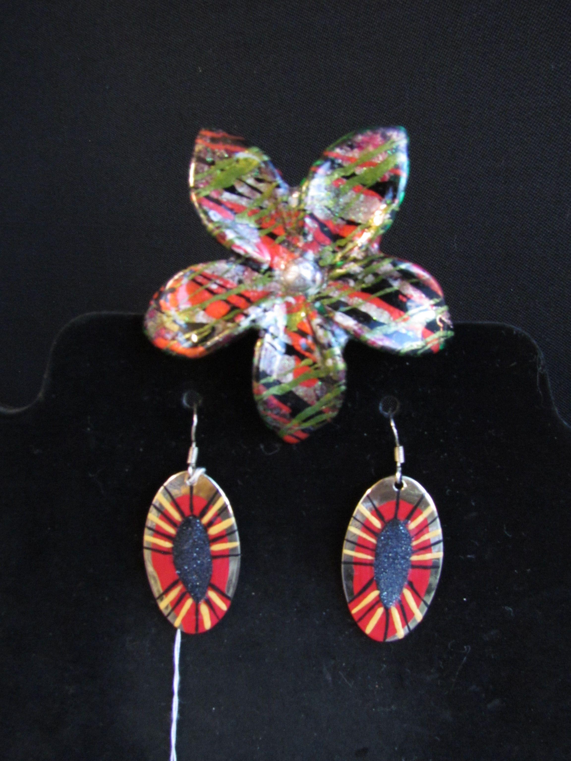 #119 Earrings and Clip $60 - Kikih Care