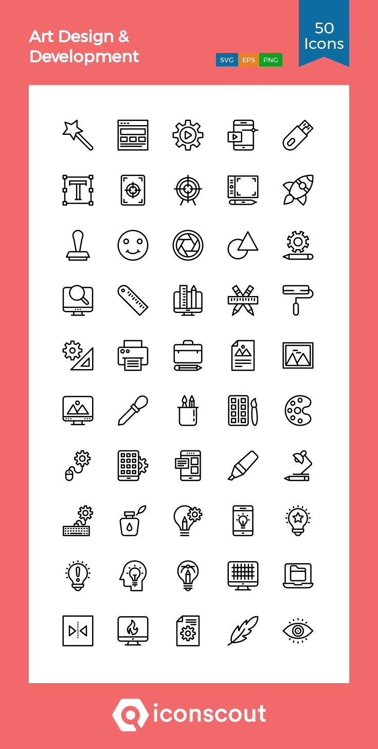 Download Download Art Design & Development Icon pack - Available in ...