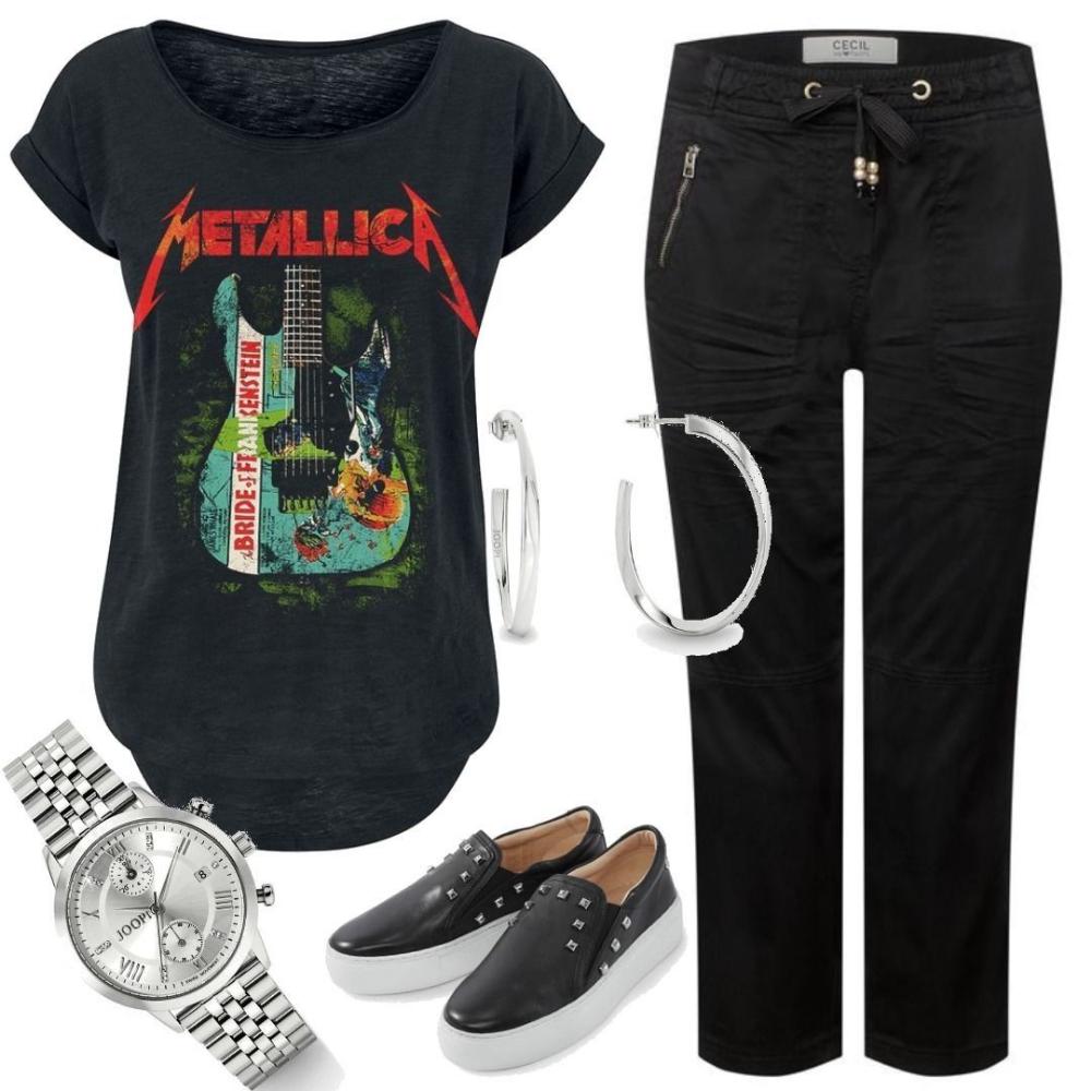 Metallica Bride of Frankenstein Guitar T-Shirt schwarz S