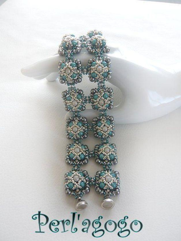 *P Tutoriels accessoires, Schéma bracelet Maldivin est une création orginale de Bibiche007 sur DaWanda