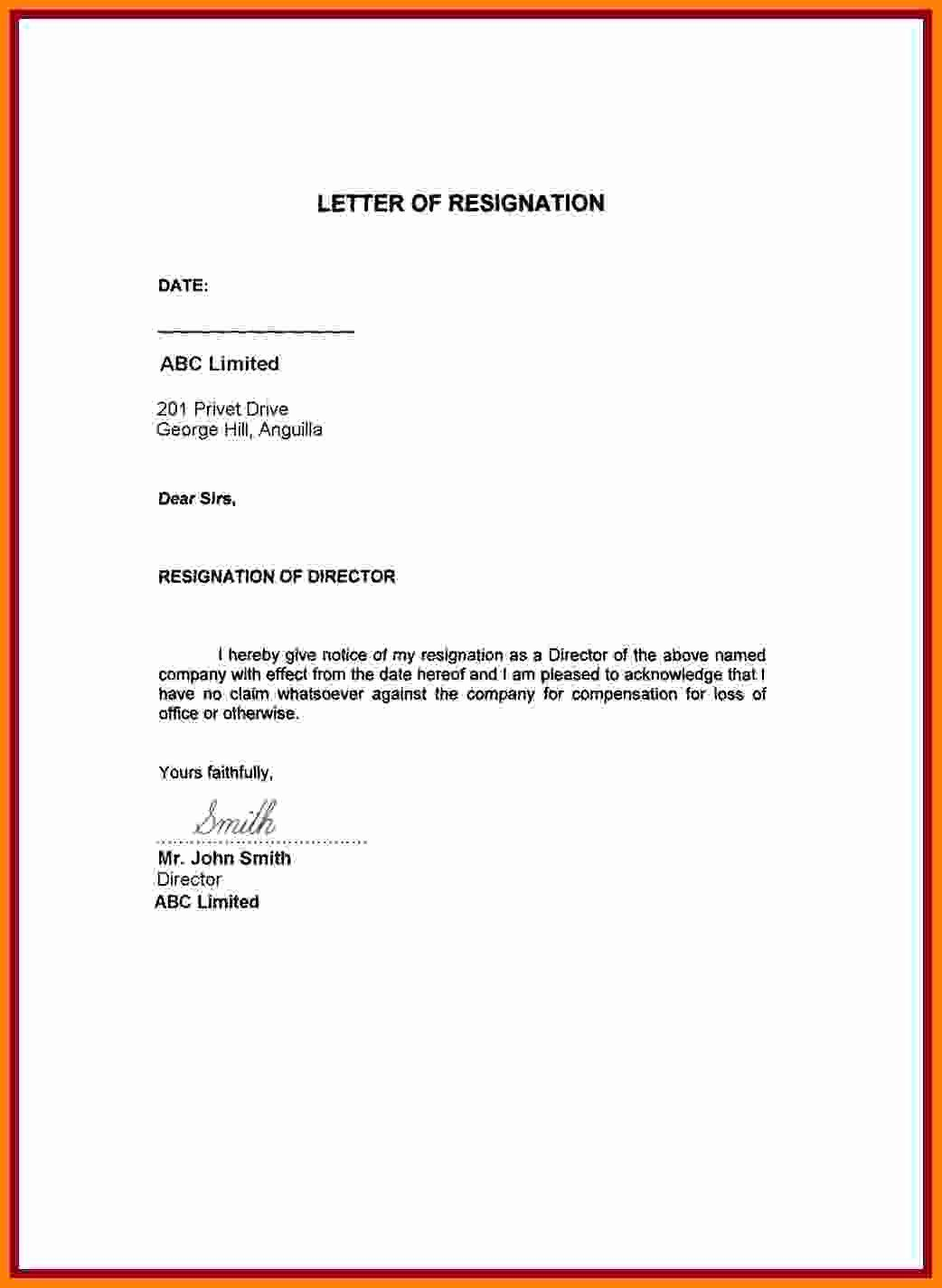 Effective Today Resignation Letter from i.pinimg.com