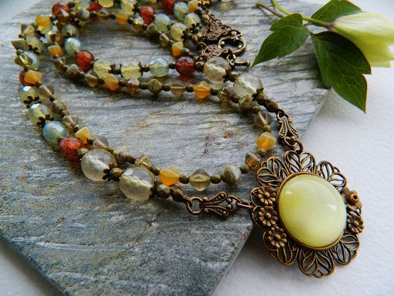 Elegant Handmade Flower Filigree Necklace by HandmadebyValentina, £48.00