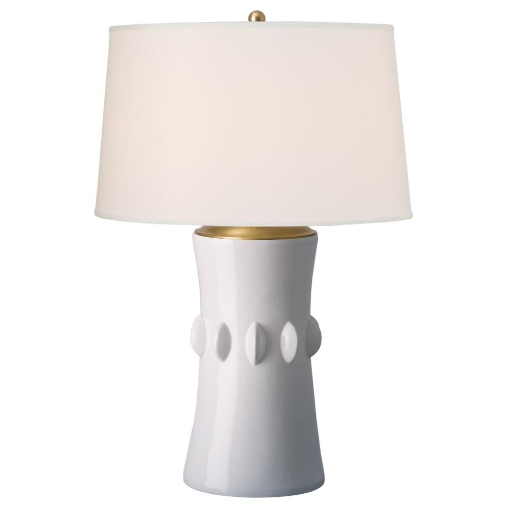 White Jewel Ceramic Vase Table Lamp