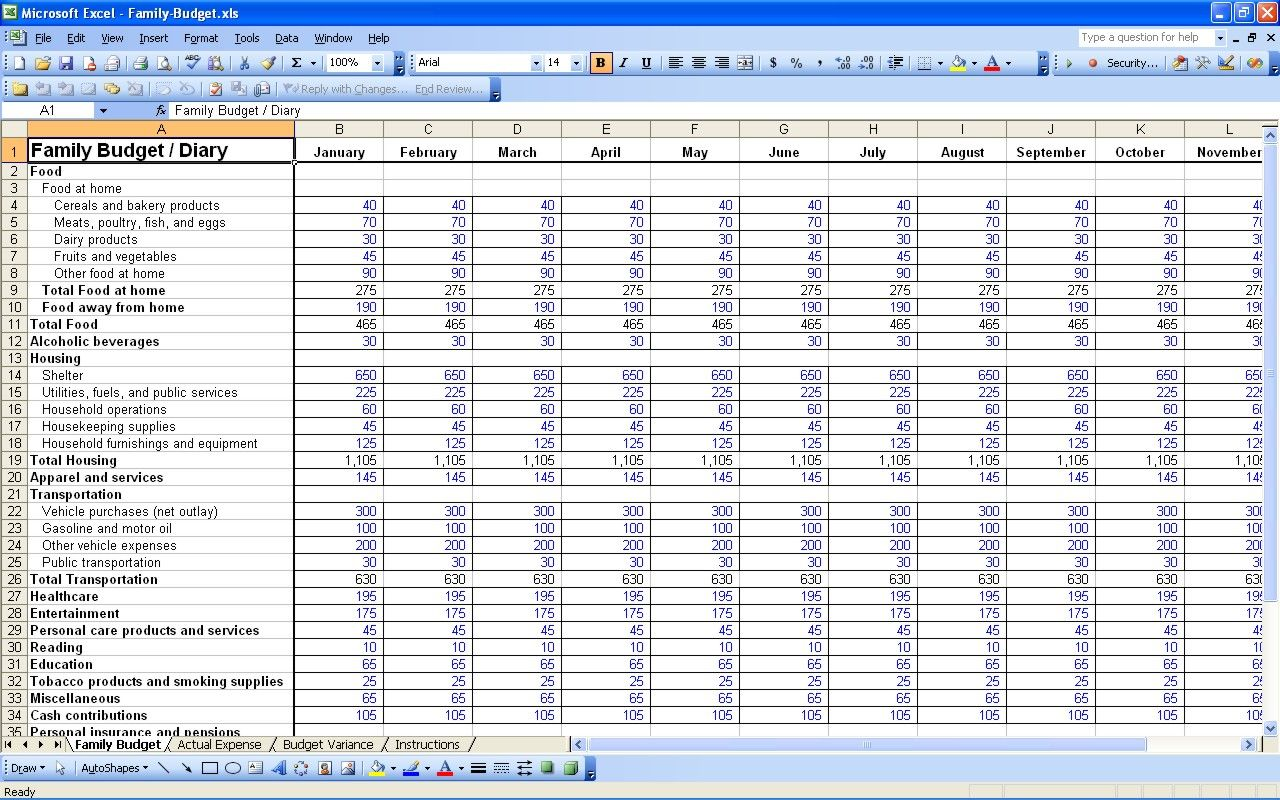 free personal budget spreadsheet excel best photos examples | Home ...