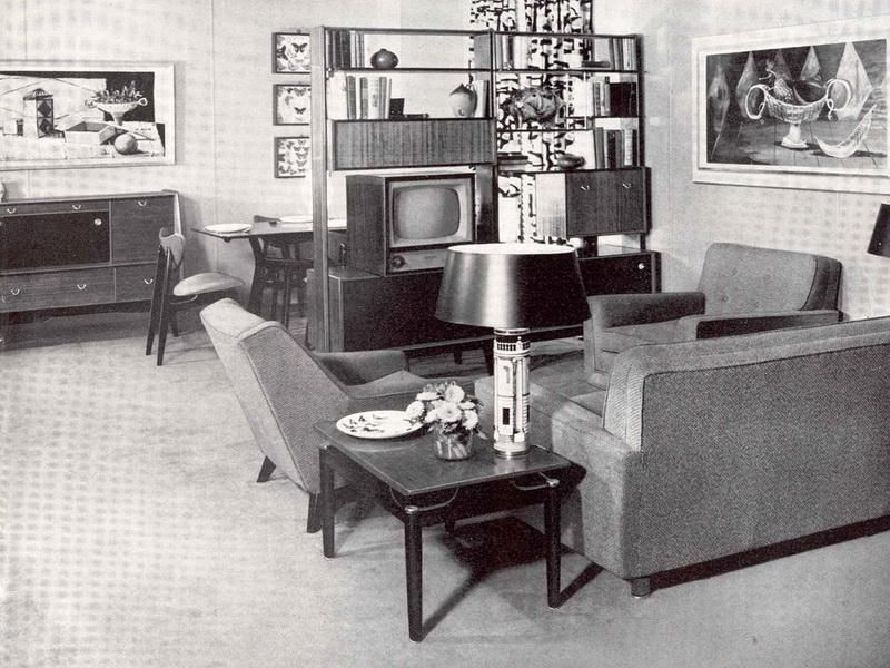 Best Living Room Of 1950 S Homes The Lines Of The 50 S 400 x 300