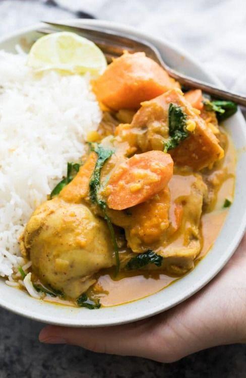 Süßkartoffel-Hähnchen-Curry