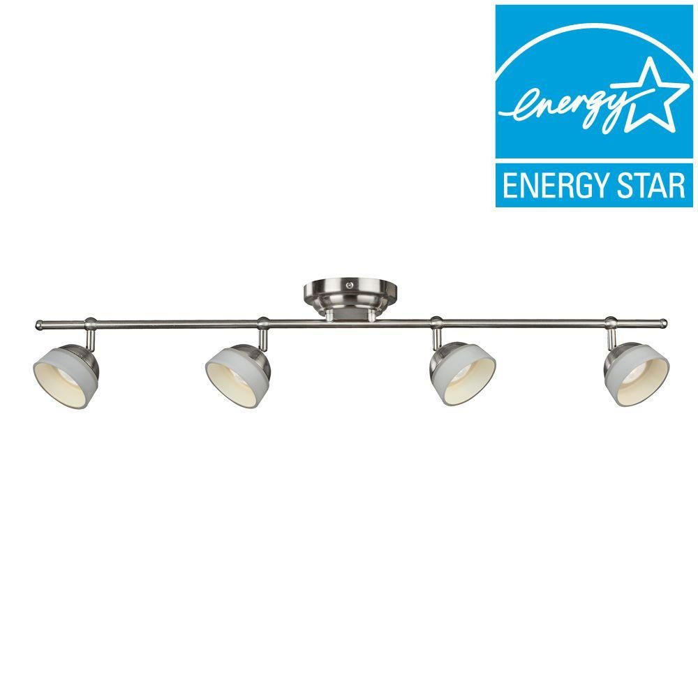 Aspects Madison 4-Light Satin Nickel Dimmable Fixed Track Lighting ...