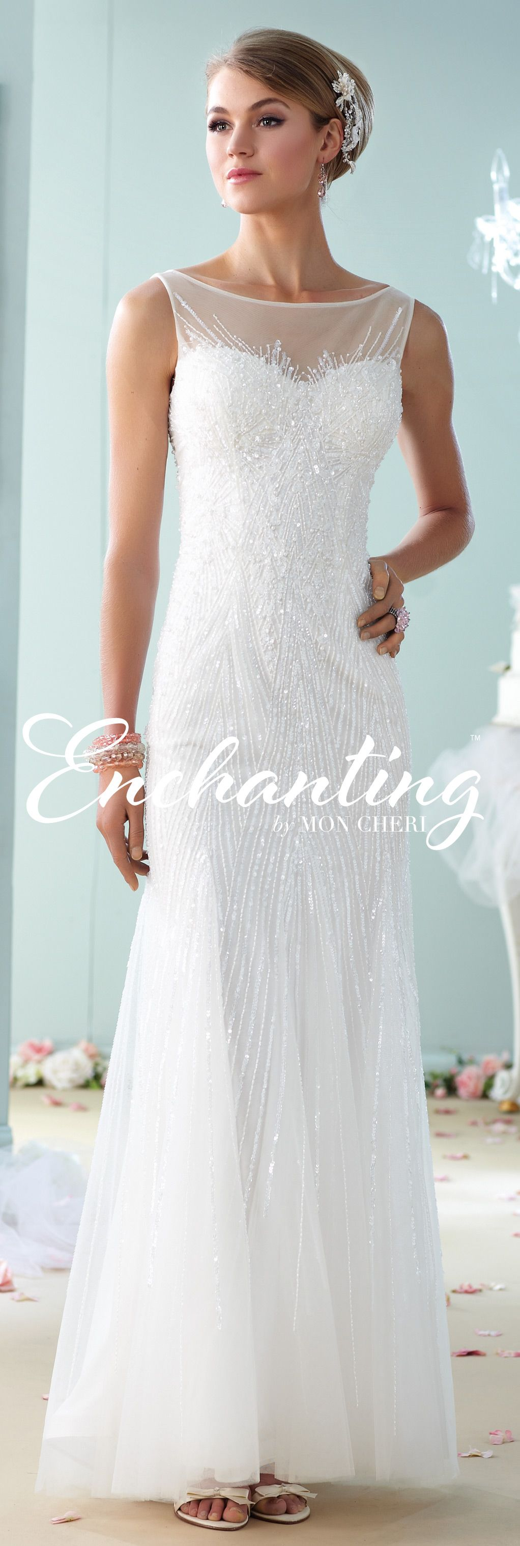 Modern wedding dresses by mon cheri enchanted collection and