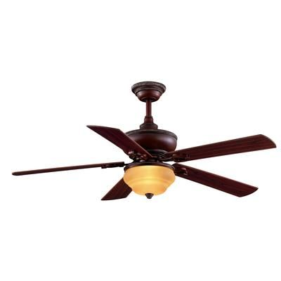 Hampton Bay Clarington Gilded Mahogany Ceiling Fan 52 Inch Home Depot Canada Ceiling Fan
