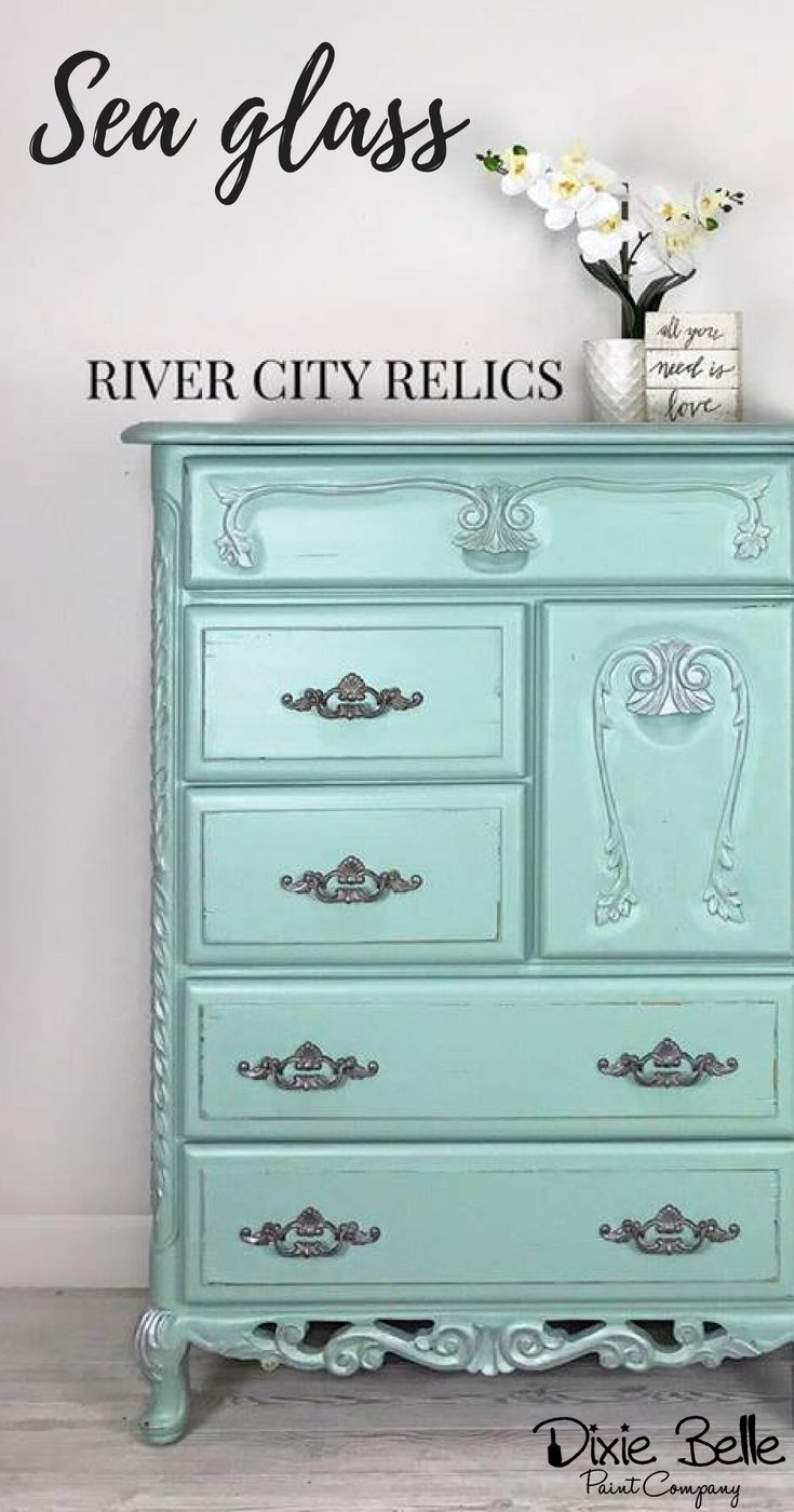 This Adorable Dresser Is Painted With Dixie Belle Paint Color Sea