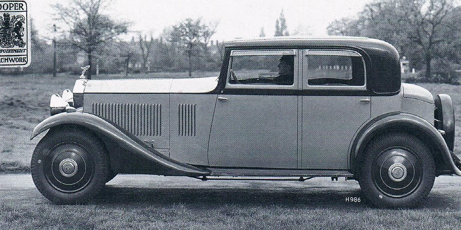 1932 Saloon by Hooper (chassis GBT75) for G.N. Wright