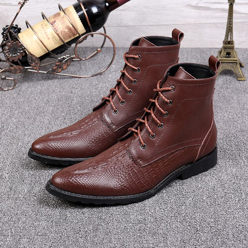 Mens lace up boots dress
