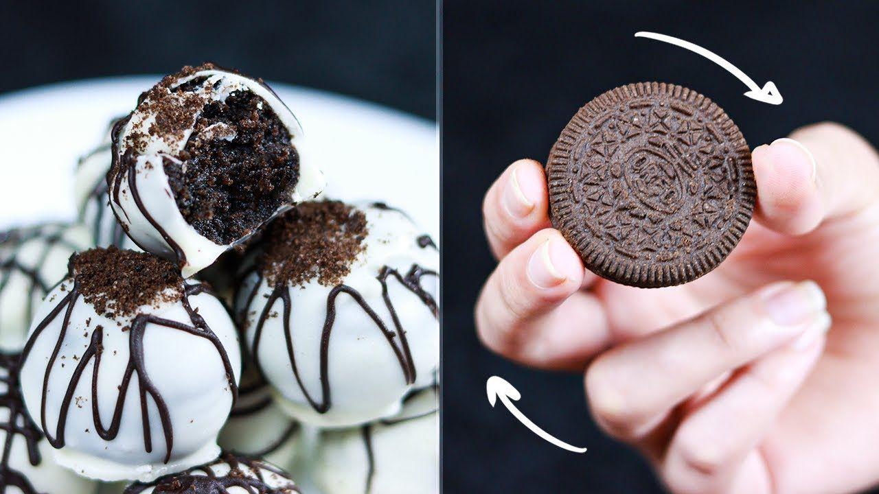 كرات الاوريو البيضاء بـ 3 مكونات فقط حلى سريع ولذيذ حلويات سهلة وسريعة Desserts Food Cookies