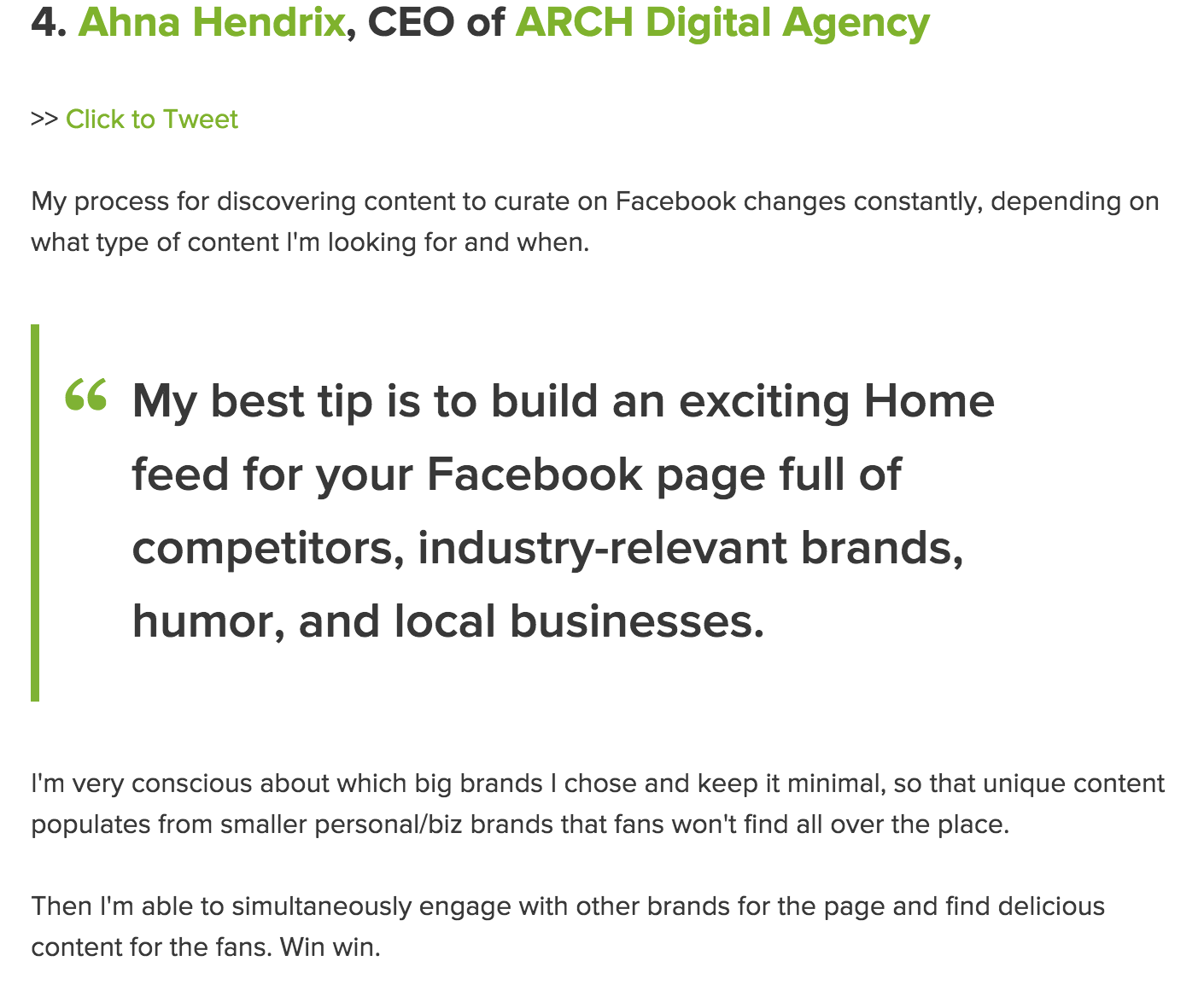 Featured In 9 Expert Endorsed Tactics To Find Great Facebook Content Ahna Hendrix Facebook Content Content I Am Awesome