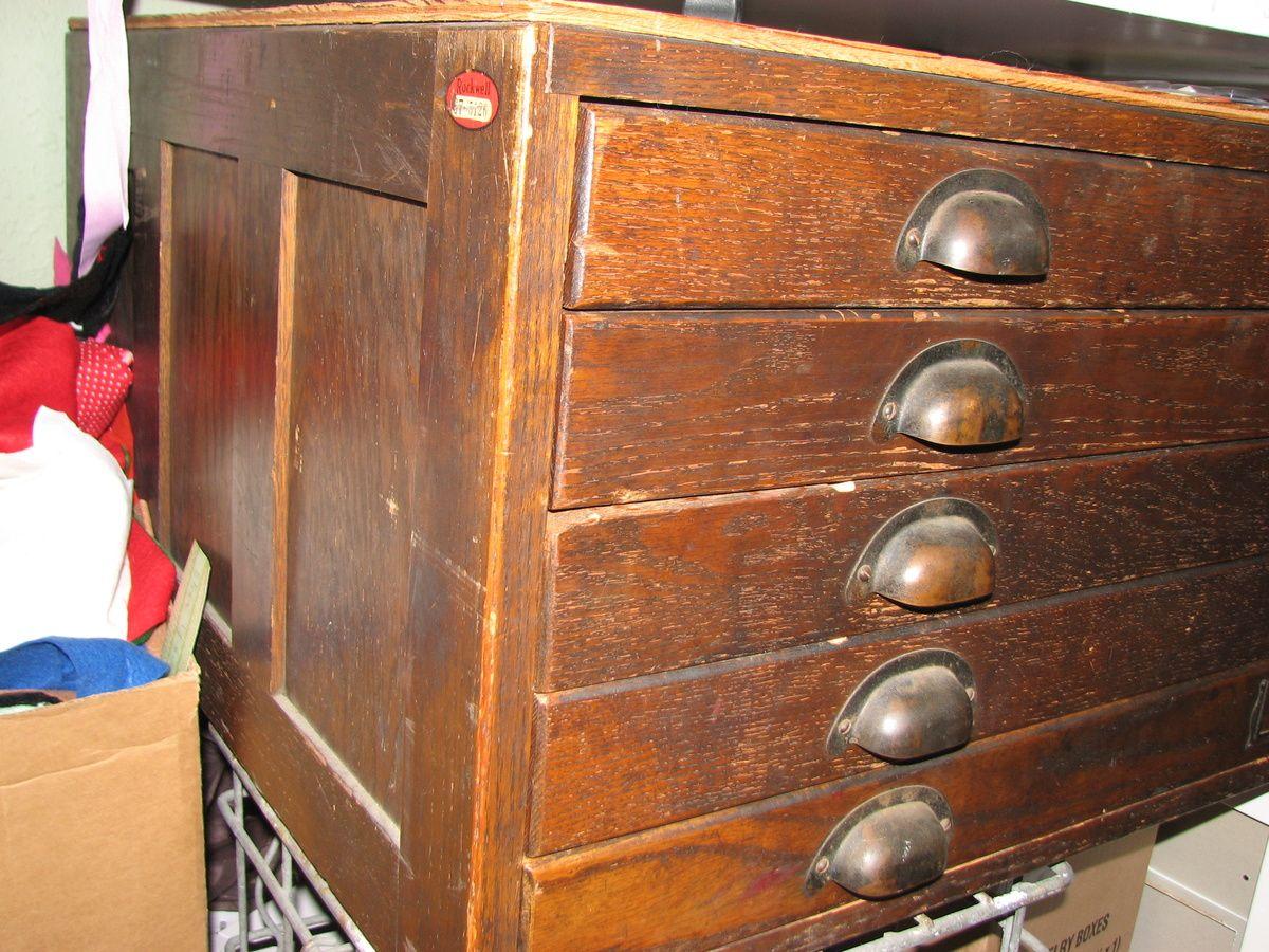 Dark Oak Architect S Flat File Cabinet Collectors Weekly Filing Cabinet Flat Files Flat File Cabinet