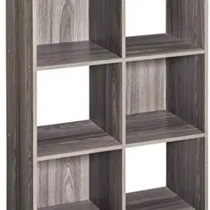 ClosetMaid Cubeicals 6 Cube Organizer Natural Gray